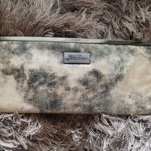 Lela Rose Grey Black and White clutch